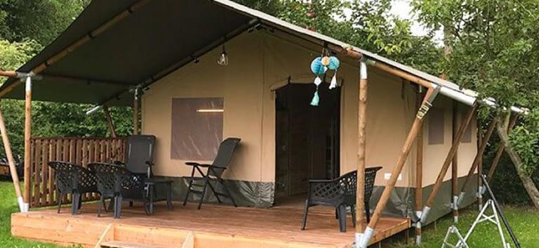 Boerderijcamping de Hinde Vodatent safaritent Nederland
